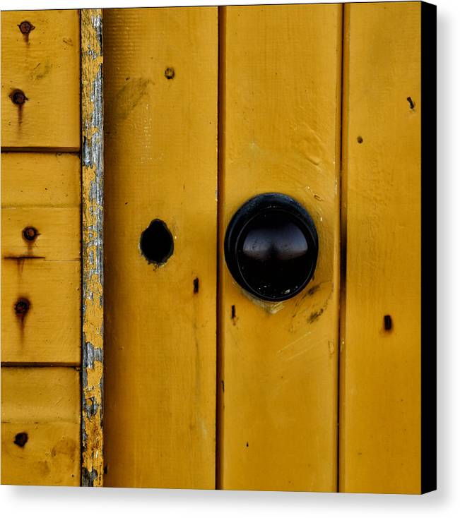Abstract Canvas Print featuring the photograph Beach Hut Abstract 04 by Russ Dixon