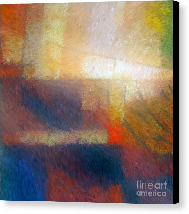 Abstract Canvas Print featuring the painting Breaking Light by Lutz Baar