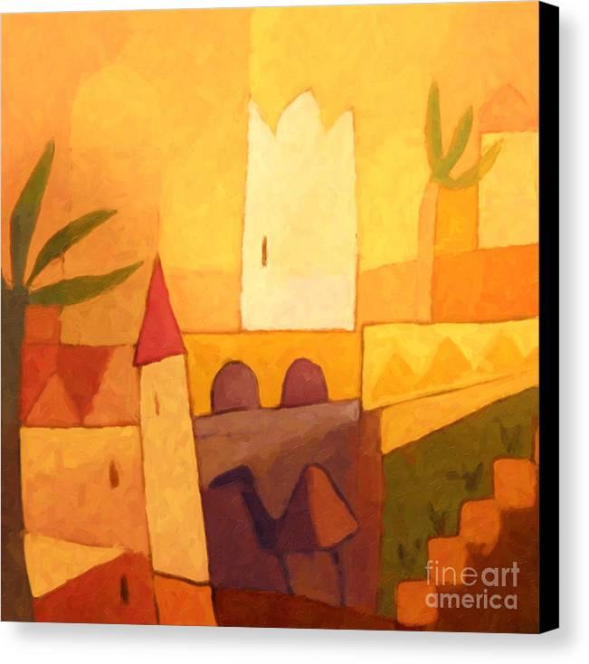 Baar Canvas Print featuring the painting Camel Town by Lutz Baar
