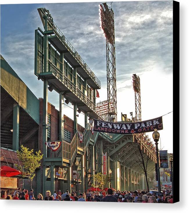 Red Sox Canvas Print featuring the photograph Game Day - Fenway Park by Joann Vitali