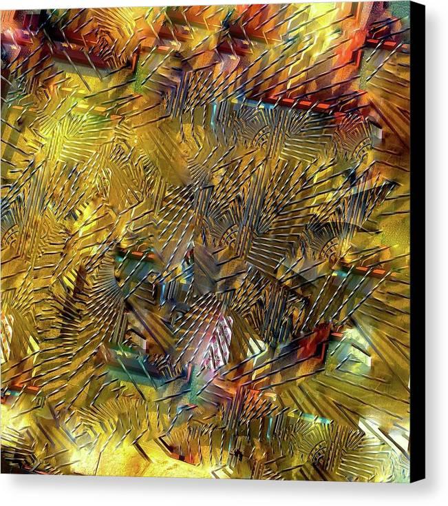 Gate Canvas Print featuring the digital art Gates Of The Sun by Michael John Bobak