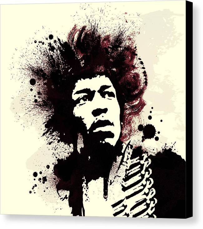 Jimi Hendrix Canvas Print featuring the painting Jimi by Laurence Adamson