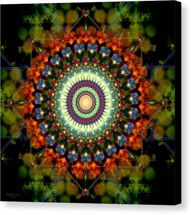 Mandala Canvas Print featuring the digital art Mandala Of Loves Journey by Stephen Lucas