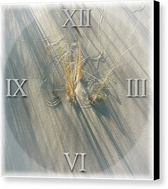 Sand Canvas Print featuring the photograph Sand Dial by Bob Bennett