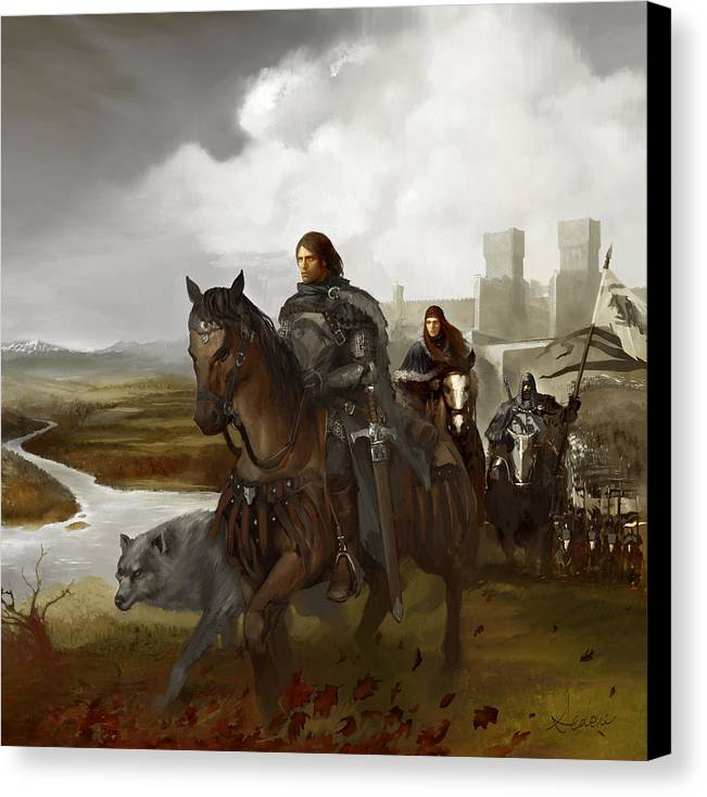 Fantasy Canvas Print featuring the painting Sea Of Storms by Sedone Thongvilay