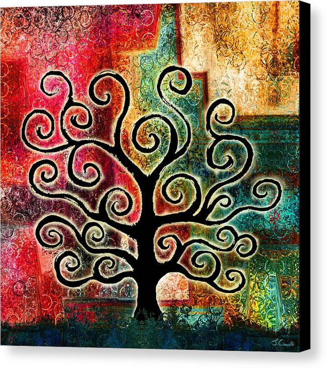 Tree Canvas Print featuring the painting Tree Of Life by Jaison Cianelli