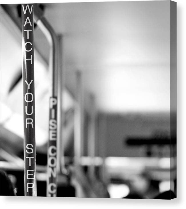 Bus Canvas Print featuring the photograph Watch Your Step by Ryan Heffron