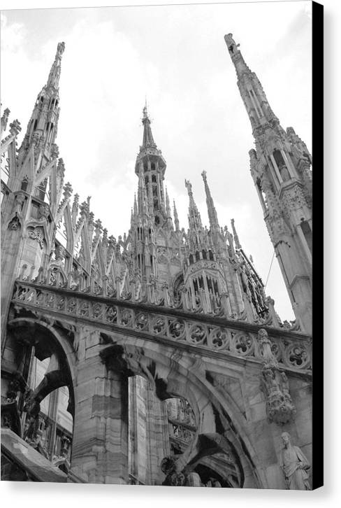Cathedral Canvas Print featuring the photograph bw2 by Mikael Gambitt