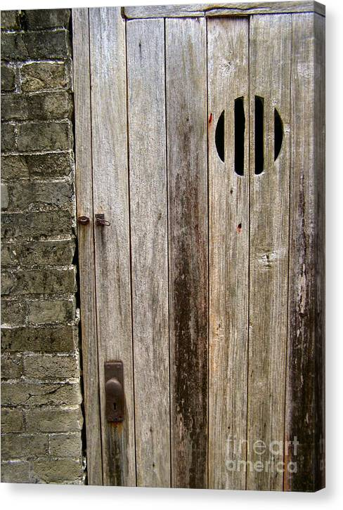 Door Canvas Print featuring the photograph Old Chinese Village Door Series Fifteen by Kathy Daxon