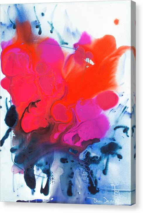 Abstract Canvas Print featuring the painting Voice by Claire Desjardins