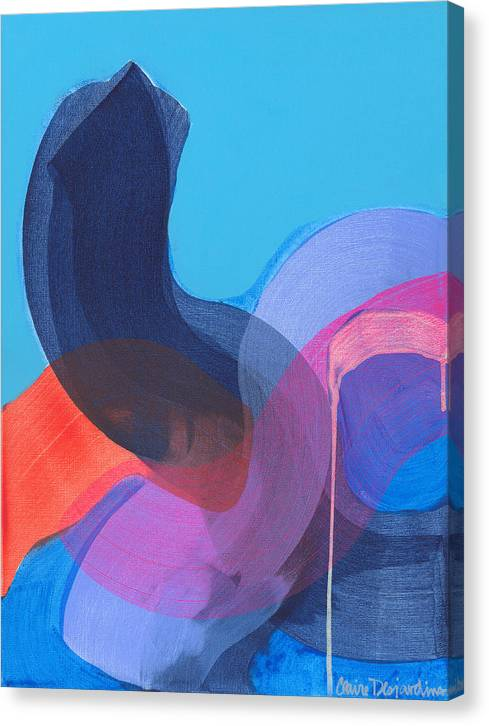 Abstract Canvas Print featuring the painting How Did It Get To Be So Late? by Claire Desjardins