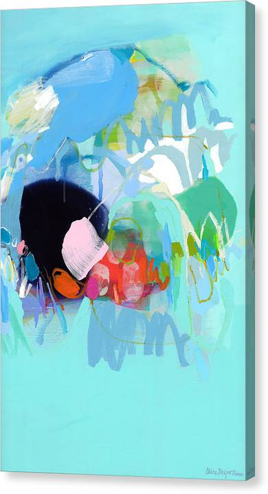 Abstract Canvas Print featuring the painting West Coast Wanderlust by Claire Desjardins