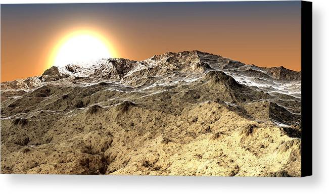 Fine Art Canvas Print featuring the photograph Arid by Kevin Trow