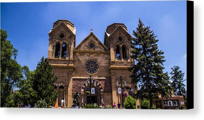 Route 66 Canvas Print featuring the photograph Cathedral Basilica by Angus Hooper Iii