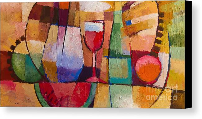 Still Life Canvas Print featuring the painting Dining by Lutz Baar