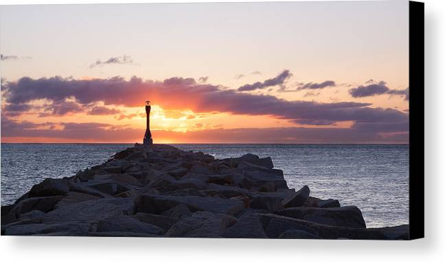 Canal Canvas Print featuring the photograph East End Cape Cod Canal by Adam Caron