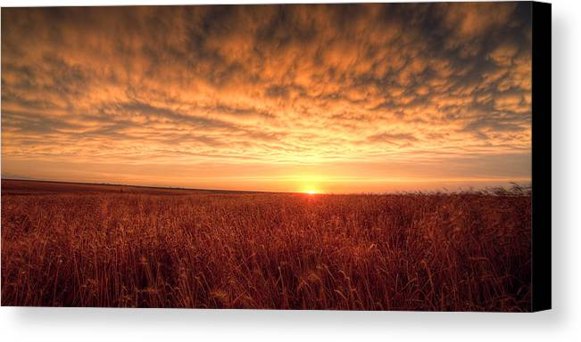 Sunset Canvas Print featuring the photograph Endless Oz by Thomas Zimmerman