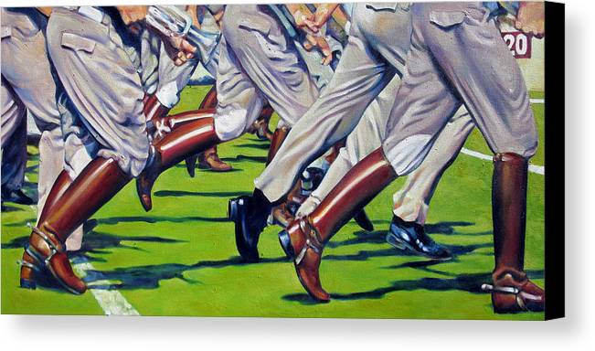 Aggies Canvas Print featuring the painting Fighting Texas Aggie Band by Jill Pankey