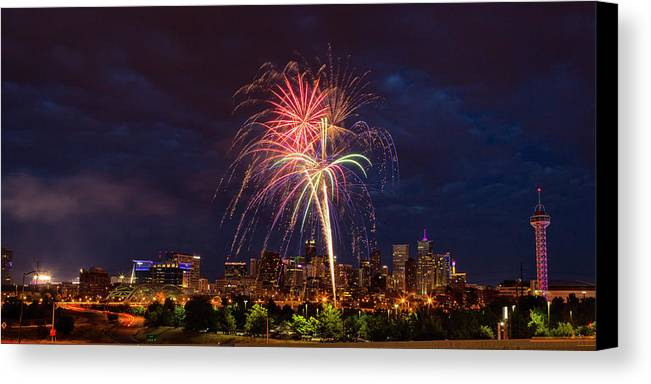 Denver Canvas Print featuring the photograph Fourth Of July by John K Sampson