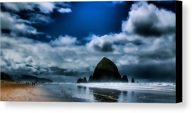 Cannon Beach Canvas Print featuring the photograph Haystack Rock IIi by David Patterson