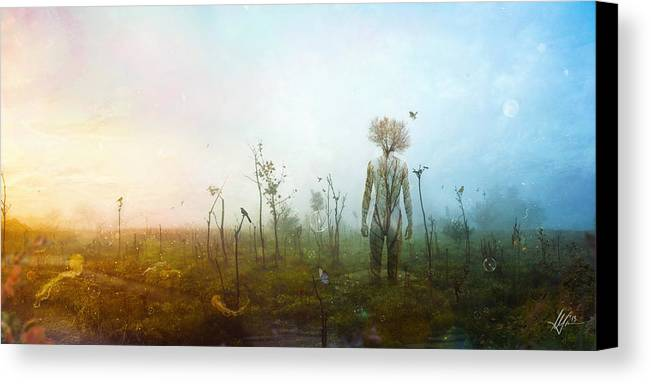 Surreal Landscape Canvas Print featuring the digital art Internal Landscapes by Mario Sanchez Nevado