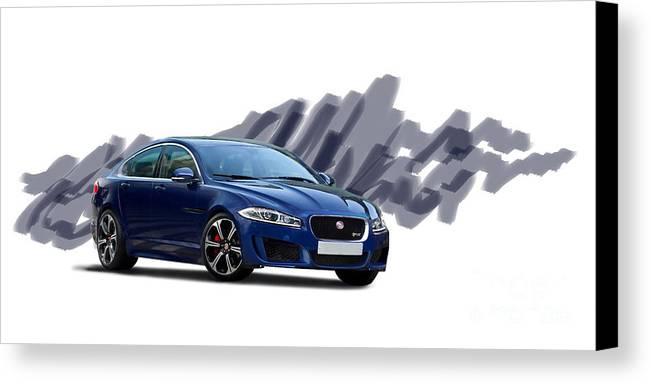 Jaguar Canvas Print featuring the digital art Jaguar Xe Rs by Roger Lighterness