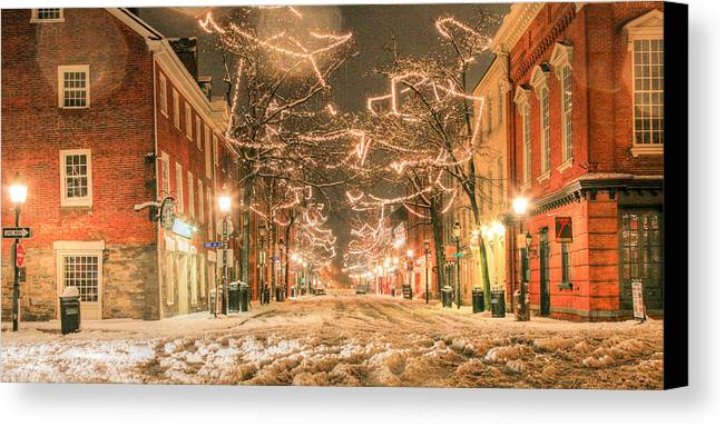 King Street Canvas Print featuring the photograph King Street by JC Findley