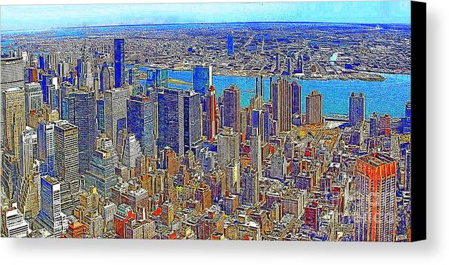 Woolworth Building Canvas Print featuring the photograph New York Skyline 20130430 by Wingsdomain Art and Photography