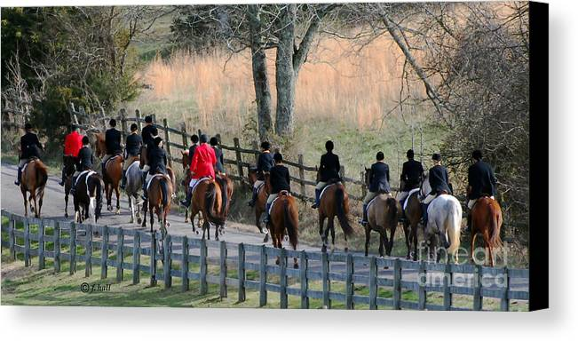 Hunt Canvas Print featuring the photograph Off To The Hunt by Francine Hall