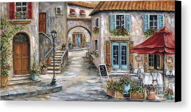 Tuscan Street Scene Canvas Print Canvas Art By Marilyn