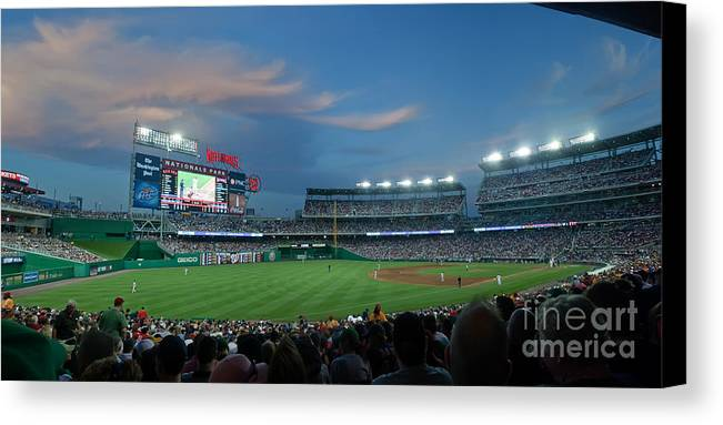 Red Sox Canvas Print featuring the photograph Washington Nationals In Our Nations Capitol by Thomas Marchessault