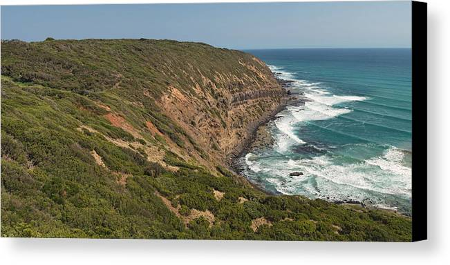 Australia Canvas Print featuring the photograph Waves At Cape Schank by View Factor Images