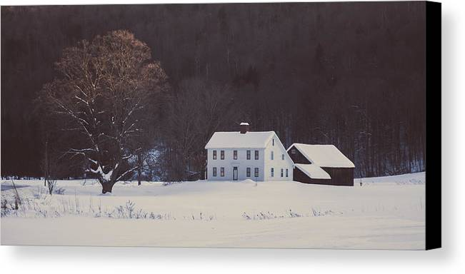 House Canvas Print featuring the photograph Winter Wonderland by Adam Caron