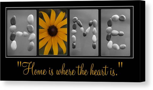 Home. Letter Art Canvas Print featuring the photograph Home Lll by PMG Images