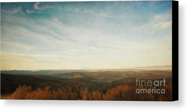 As Far As The Eye Can See Canvas Print featuring the photograph Mountains As Far As The Eye Can See by Priska Wettstein