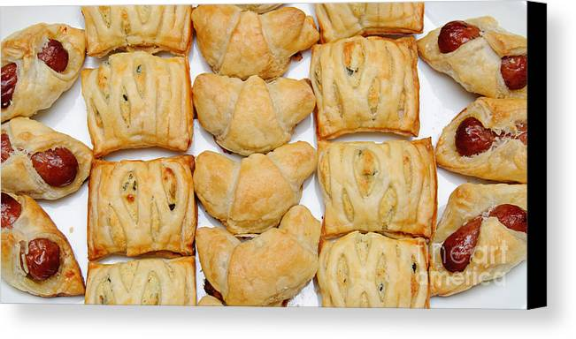 Food Canvas Print featuring the photograph Puff Pastry Party Tray Pano by Andee Design