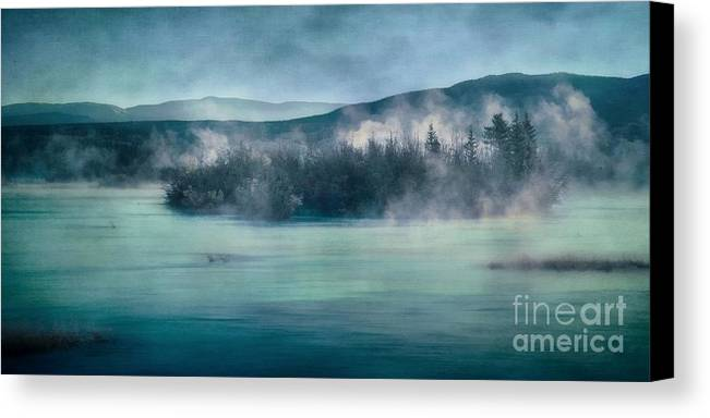 Yukon River Canvas Print featuring the photograph River Song by Priska Wettstein