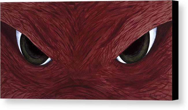 Arkansas Canvas Print featuring the painting Hog Eyes by Amy Parker