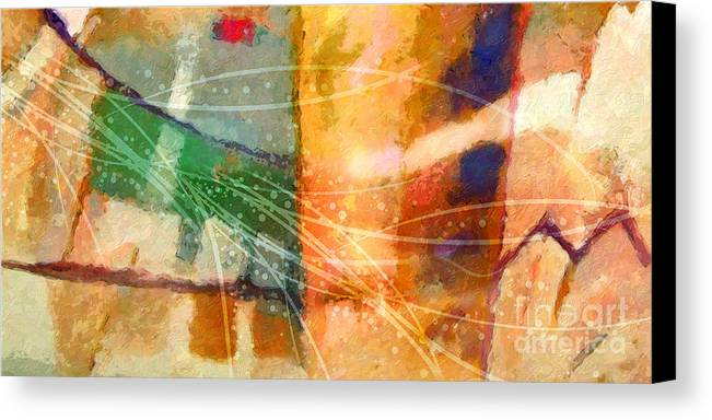 Abstract Canvas Print featuring the painting Lifelines by Lutz Baar