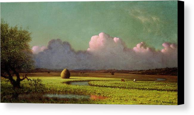 Artist Canvas Print featuring the painting Sunlight And Shadow by Martin Johnson Heade