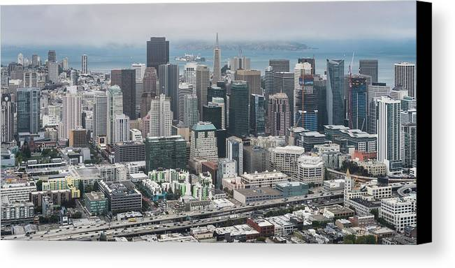 San Francisco Canvas Print featuring the photograph Aerial San Francisco by Michael Lee
