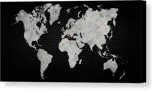 Black metal industrial world map canvas print black canvas print featuring the digital art black metal industrial world map by douglas pittman gumiabroncs Image collections