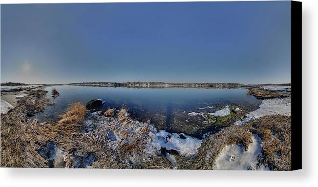 Cole River Canvas Print featuring the photograph Cole River Swansea Mercator by Christopher Blake
