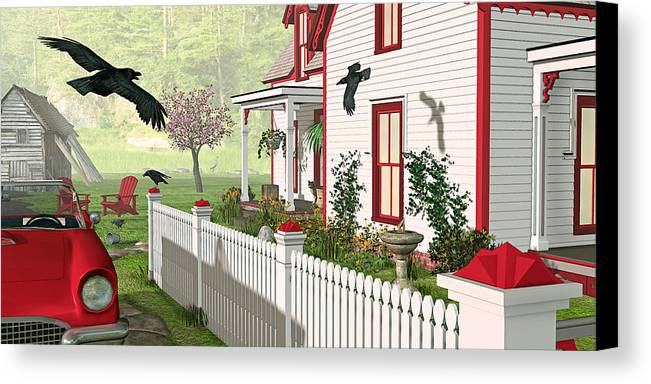 Victorian House Canvas Print featuring the photograph Downeast Morning by Peter J Sucy