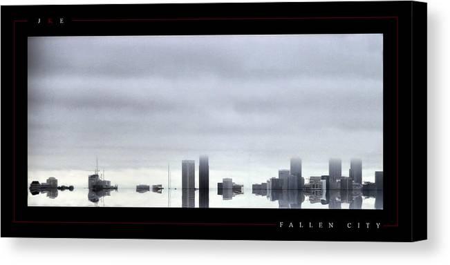 Atlanta Canvas Print featuring the photograph Fallen City by Jonathan Ellis Keys