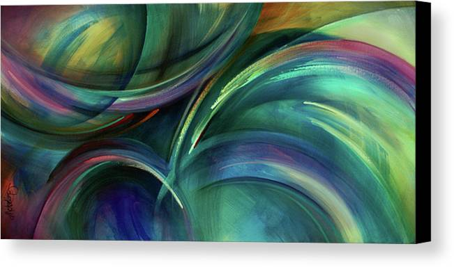 Abstract Design Canvas Print featuring the painting Flight by Michael Lang