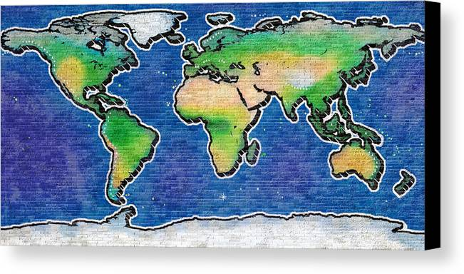 Graffiti world map canvas print canvas art by frans blok world canvas print featuring the photograph graffiti world map by frans blok gumiabroncs Choice Image