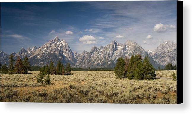 Grand Teton Canvas Print featuring the photograph Grand Teton by Chad Davis