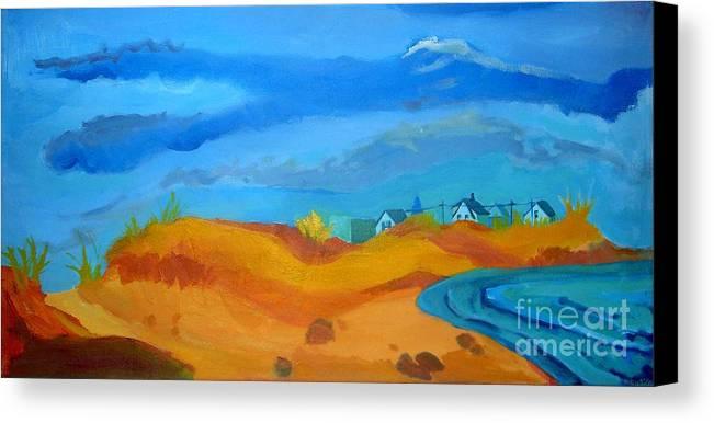 Ocean Canvas Print featuring the painting Hampton Dunes by Debra Bretton Robinson