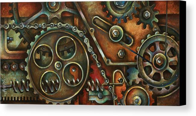 Mechanical Painting Canvas Print featuring the painting Harmony by Michael Lang